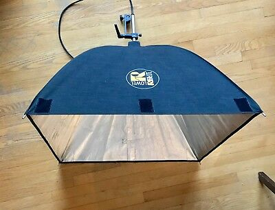 2 x Lowel Rifa Lite LC-88 Portable Softbox Studio Lights (with 5 bulbs!)
