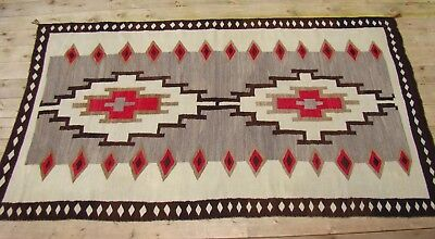 Large Antique Navajo Rug Room Size 53X91 Native American weaving