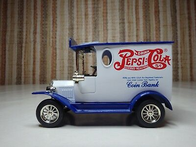 Golden Wheel Diecast Pepsi Cola Coin Bank