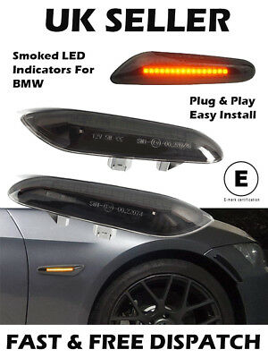 BMW Smoked Black LED Indicators Repeaters E81 E82 E46 E90 E92 E60 X1 X3 X5
