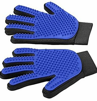 Pet Deshedding Brush Glove Great For Cats Dogs Horses Hair Remover Fur Shedding