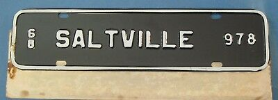 scarce 1968 Saltville Virginia town tag never used