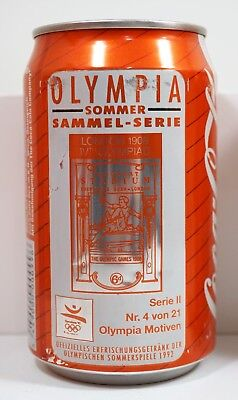 Coca Cola can Getränkedose Österreich; Olympia-Sammel-Serie Barcelona 1992 #4