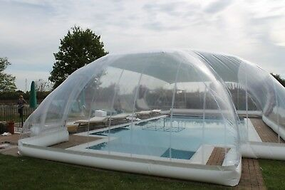 INFLATABLE HOT TUB Swimming Pool Solar Dome Cover Tent W/ Blower ...