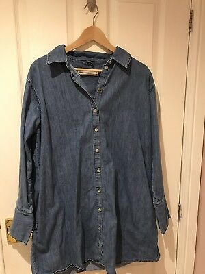ASOS Maternity size 12 denim long sleeved blue dress Great Condition