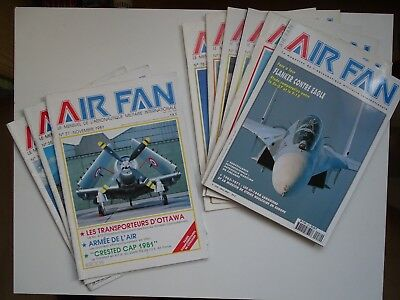 Lot Air Fan (de 2 à 17 magazines).
