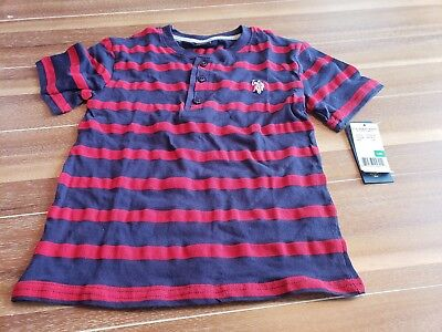 US Polo Assn. Childrens Apparel U.S. Boys  stripe navy and red
