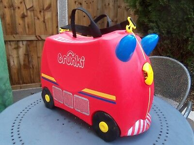 010a9ad43d9b Trunki - Frank The Fire Engine Trunki + Long Strap   Key Great For Kids  Travel