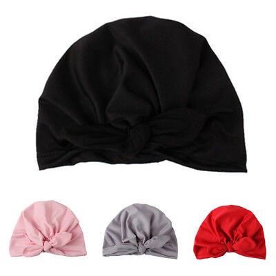 Decor Cap Baby Boy Kids Headwear Hat Girl Bow Knot Beanie Newborn Party Pink