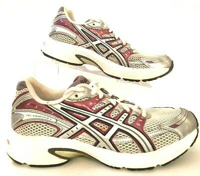 ddb8773e2bcb ASICS GEL-EQUATION 3 Womens size 8 White Silver Violet Running Sneakers  Shoes