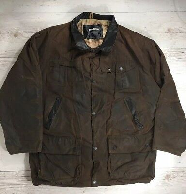 Barbour Mens Bushman Jacket Waxed Cotton Large L