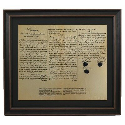 Framed Louisiana Purchase with Black Matte. Free Shipping.