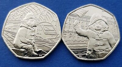 2018 Paddington bear. 50P Pence. Coin set. From sealed bags. Christmas gift.