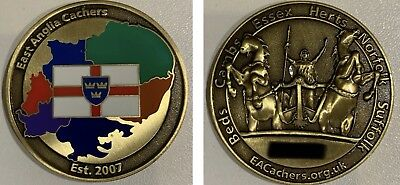 East Anglia Cachers Coin - UK COIN - Activated