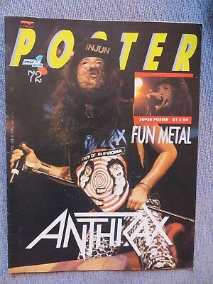 Poster: N.72 -Especial: Anthrax !!!!!! (Spanish Magazine)