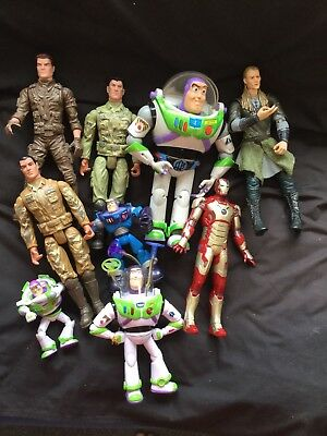 Assorted Action Dolls. Mixed Lot. As Photo.