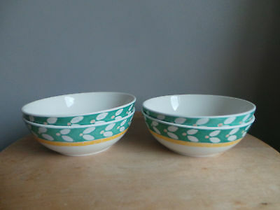 ROYAL DOULTON EXPRESSIONS CABANA PATTERN 15cm WIDE CEREAL BOWLS X4
