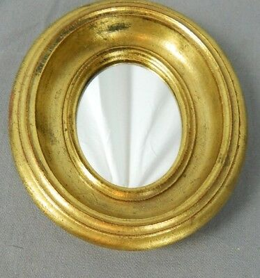 Vintage Florentia Made in Italy Gold Framed Oval Mirror
