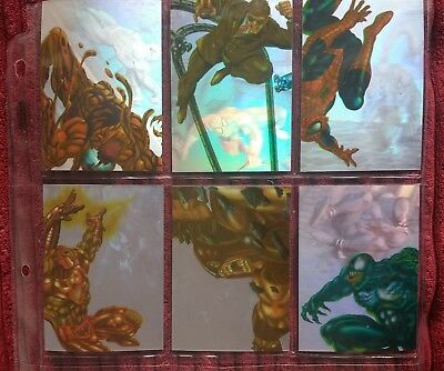 Complete 1995 Fleer Ultra Spider-Man Holoblast Chase Set of 6 cards
