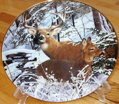 Danbury Mint Travers SNOWBOUND Deer Buck Plate + COA