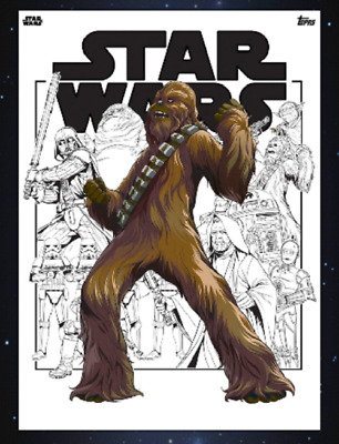 Topps Star Wars Card Trader Saga Comic Collages Chewbacca