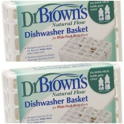 2 Dr Browns Baby Dishwasher Basket Bottle Feeding Cleaning Sterilising 2 Pack