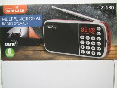 Portable AM/FM Radio with Rechargeable Battery by Digital Sunflash ( Z-124AM )