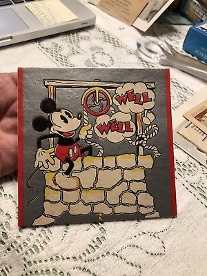 1932 Vintage Mickey Mouse Birthday Card Hall Brothers