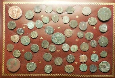 "Lot of about 50 Ancient Roman Coins, Mostly ""Fine"" to VF, Caligula Vesta As!"