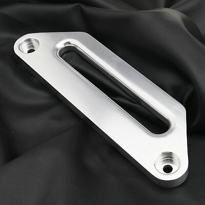 """CS Alloy Silver 4wd Winch Hawse Fairlead For Synthetic / Dyneema Rope 245MM 10"""""""