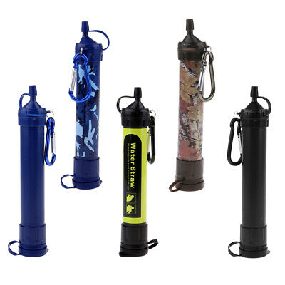Mini ABS Water Straw Filter 1000L Purifier Survival For Outdoor Camping