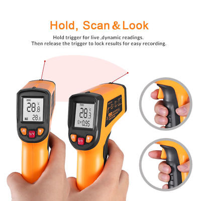 -58℉ to 752 ℉Temperature Gun Non-contact Infrared IR Laser Digital Thermometer
