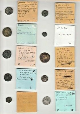 Lot of 10 Ancient Roman Imperial Coins Identified & Typed NO RESERVE Group E
