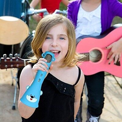 Wireless Bluetooth Karaoke Microphone Top Birthday Gifts for Kids 2019 Blue New