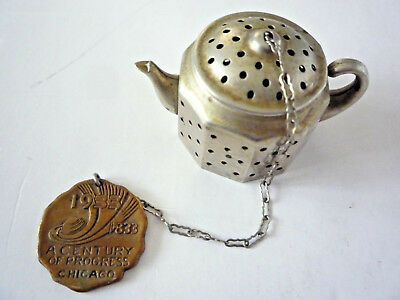 Vintage TEA INFUSER from Chicago Expo. CENTURY OF PROGRESS 1933, by Knobby Kraft