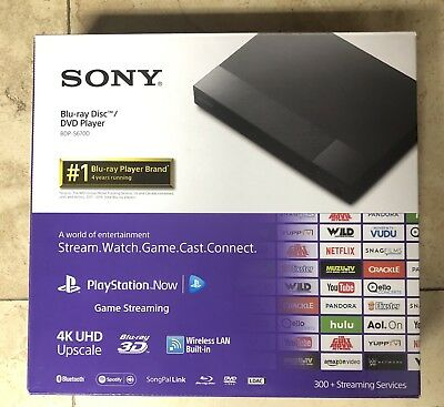SONY BDP-S6700 4K Upscaling 3D Streaming BLU-RAY Disc Player BDPS6700 In Box