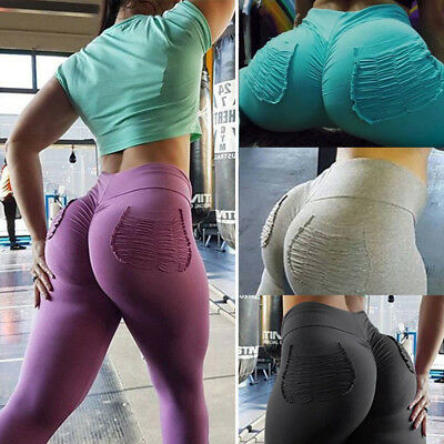 Women PUSH UP Yoga Leggings High Waist Fitness Sports Jogging Gym Stretch Pants