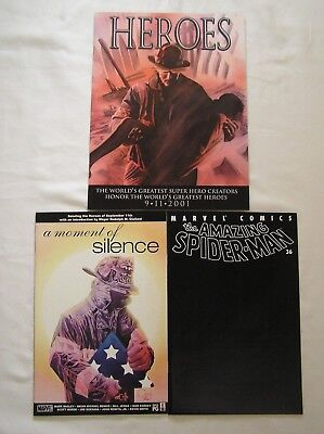 AMAZING SPIDER-MAN #36  +  HEROES  /  Moment Of SILENCE  9/11 Issues