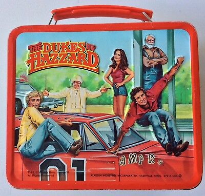 1980 THE DUKES OF HAZZARD METAL LUNCHBOX (No Thermos)