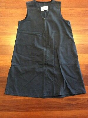 Girls School Uniform Pinafore Navy Size 8