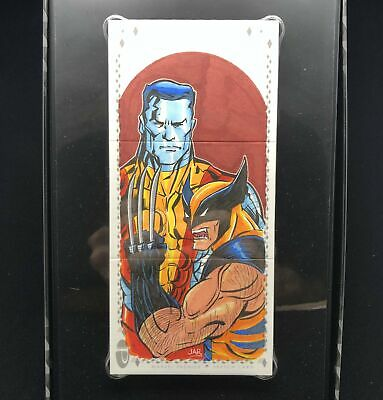 2017 Marvel Premier WOLVERINE COLOSSUS Arturo Benitez Sketch Triple Panel 1/1