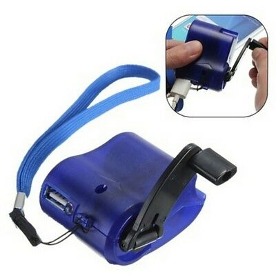 Emergency Survival Gear Hand Crank Camping SOS Phone Charger Power USB Gadget US