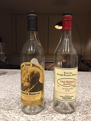 EMPTY Bottles - Pappy Van Winkle 15 and 12 Year Old Lot B