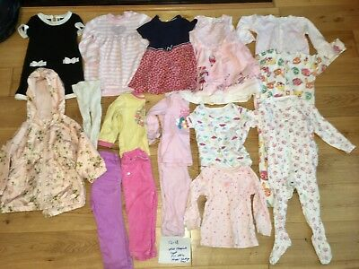12-18 Months Girls Playwear Nursery Bundle Next Sleepsuits Dress Coat Pyjamas