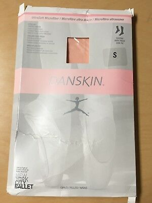 Danskin Ultra Soft Microfiber Footed Tights - Style 387 - Ballet Pink- Girls - S