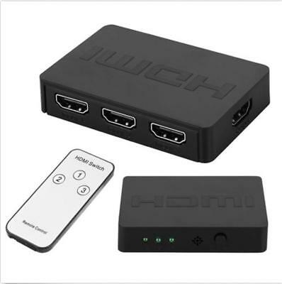 1080P 3D 3 x 1 HDMI Splitter Switcher 3 Port Hub Box Auto Switch 3 In 1 Out