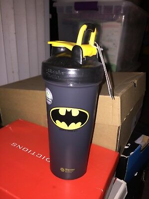 Batman Blender Bottle Brand Shaker Cup New 24+ Ounces Black Protein Shaker