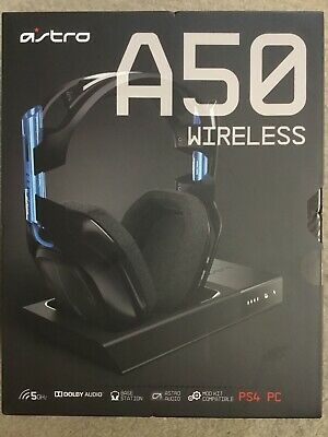 ASTRO Gaming A50 Wireless Dolby Gaming Headset (Black/Blue) PS4 / PC *BRAND NEW*