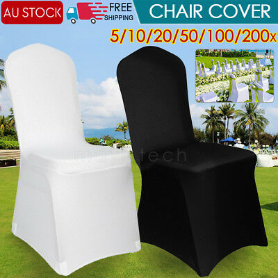 Chair Cover Seat Covers Spandex Stretch Lycra Washable Banquet Wedding Party AU