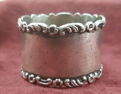 Antique Silver Napkin Ring Hallmark William Davenport Birmingham 1901
